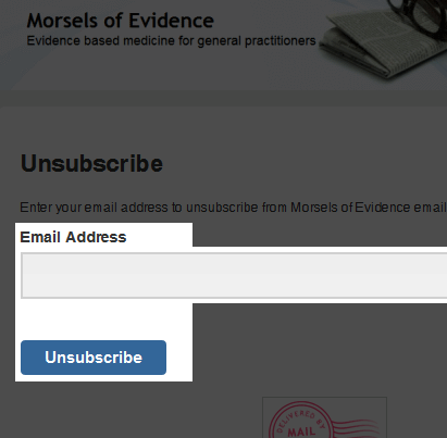 How to unsubscribe from the mailing list